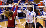 Jeme Obeime led the Blue Devils in kills against both N.C. State and North Carolina, but the Blue Devils could not pull of the win in either of the matches.