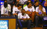 Top recruits sit behind Duke's bench during Countdown to Craziness. Brady Buck covered recruiting for The Chronicle.