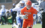 Brendan Fowler has won 65.6 of his faceoffs this season for Duke and has led the Blue Devils on the wing.