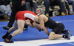 Redshirt sophomore Brandon Gambucci was one of four Blue Devils to pin his Boston University opponent.