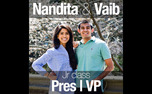 Although Nandita Singh won the election for junior class president, her running mate Vaib Penukonda did not.