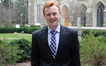 Public policy master's student Chris Marsicano emphasizes his love for Duke in Young Trustee campaign .