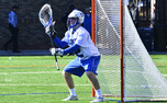 Coming off the bench in the second quarter, sophomore Luke Aaron registered a career-high nine saves as Duke upended Denver.