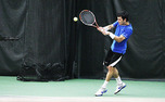Senior Henrique Cunha, the No. 10 singles player in the nation, is undefeated this season.