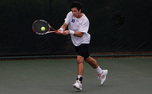 Sophomore Henrique Cunha easily took his singles title at the Fab Four Invitational with a 6-0, 6-1 win.