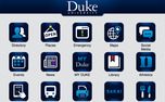 The new version of duke.edu comes with a revamped mobile site, picture above.