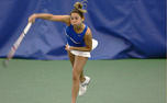 Duke team captain Mary Clayton entered the 100-Win Club last weekend during the ITA Kickoff Weekend.