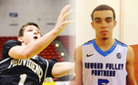 Grayson Allen (left) is Duke's lone commit thus far, and Tyus Jones (right) is one of the Blue Devils' top priorities.