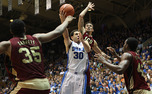 Seth Curry scored a career-high 31 points, including 18 in the second half, in Duke's win over Santa Clara.