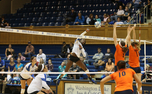 Duke overcame a slow first set to defeat Syracuse 3-1 Friday night at Cameron Indoor Stadium.