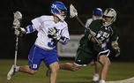 Junior Jordan Wolf scored two goals in Duke's first matchup against Loyola this season.
