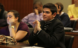 Senate members gather for the weekly Duke Student Government meeting Wednesday evening.