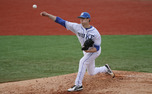 Conner Stevens threw a scoreless seventh inning as five Duke pitchers combined for a four-hit shutout Tuesday night.