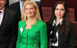Katherine Haley (L), Trinity '00, is now the policy adviser to House Speaker John Boehner.