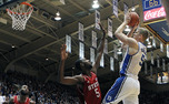 Mason Plumlee made 9-of-11 field goals en route to a 30-point performance to lead Duke to a 98-85 win against N.C. State
