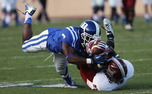 After back-to-back losses, the Blue Devils stepped up in a 38-31 victory against Troy on Homecoming weekend.