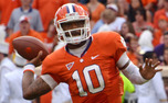 Clemson quarterback Tajh Boyd is completing 67.7 percent of his passes this season with 20 touchdowns and six interceptions.