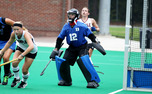 Junior goalkeeper Lauren Blazing will look to slow down Old Dominion and Wake Forest this weekend.