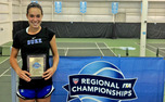 Sophomore Beatrice Capra gutted out a three-set victory to capture the singles title at the ITA Carolina Regional.