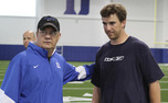 David Cutcliffe has mentored New York Giants quarterback Eli Manning since before his college days.