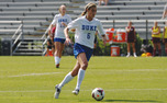 Lizzy Raben is one of three freshmen who have helped to anchor Duke's back line this season.