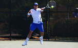 Senior Henrique Cunha is undefeated in singles this season, but could be tested by Kentucky's Anthony Rossi.
