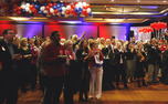 Local Republicans gather to watch election results Tuesday night. Although they lost the presidential race, GOP candidate Pat McCrory took the governor's office.