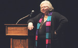 Sarah Weddington, who argued Roe v. Wade before the Supreme Court in the 1970s, speaks about the experience in Page Auditorium Monday night.