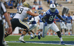 Duke's defensive line will have its hands full against Navy's triple-option attack.