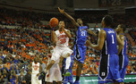 K.J. McDaniels scored 24 points as Clemson topped Duke 72-59 to drop the Blue Devils to 1-2 in ACC play.