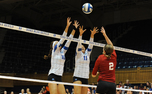 Duke held a block party in a straight-set victory against Indiana Friday night at Cameron Indoor Stadium.