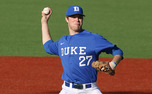 Making his first career collegiate start, James Marvel allowed five runs in four innings.