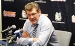 "Connecticut head coach Geno Auriemma said the second half was ""as much fun as he's had in a long time."""