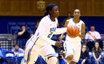 The play of sophomore point guard Alexis Jones was one of the lone bright spots for Duke at the Blue/White scrimmage.