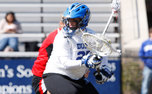 Duke has gone 6-1 this season with goalie Mollie Mackler (above) in net, but she missed the Blue Devils' most recent game against Georgetown.
