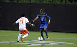Defender Sebastien Ibeagha scored the game-winning goal in Duke's 2-1 victory against Wright State Tuesday night.
