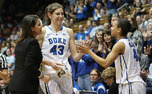 Allison Vernerey, Duke's lone senior, was honored on senior day against North Carolina.