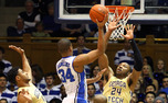 Duke flourished in the second half against Georgia Tech when Andre Dawkins, Rasheed Sulaimon and Quinn Cook shared the floor for the Blue Devils.