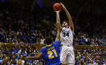 Ryan Kelly scored 18 points in just 24 minutes of playing time to lead Duke to an 88-50 win over Delaware.