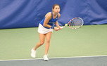 Mary Clayton earned one of Duke's easier wins against Princeton, winning 6-0, 6-3 in singles.