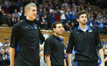 Seniors Mason Plumlee, Seth Curry and Ryan Kelly combined for 52 points in their final game at Cameron Indoor Stadium.