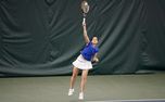 Senior Reka Zsilinskzka won Section B 6-2, 6-4 Sunday.
