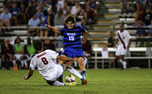 With two goals on the season, midfielder Zach Mathers is tied with Sean Davis for Duke's team lead.