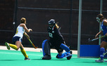 Redshirt sophomore Lauren Blazing will be joined by her younger sister Robin on Duke's field hockey team this season.