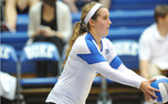 Ali McCurdy amassed a career-high 37 digs against Florida State, a tally that ranks second in Duke history.