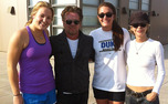 Incoming recruit Rebecca Greenwell took a picture with John Mellencamp, Meg Ryan and Duke's Tricia Liston.