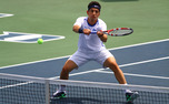 Bruno Semenzato and Raphael Hemmeler recorded an upset victory in doubles at the ITA All-American Championships.