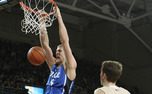 Mason Plumlee recorded a double double with 19 points and 10 rebounds in Duke's narrow win against Boston College.