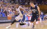 Rasheed Sulaimon starred in Duke's exhibition, scoring 20 points, 18 of which came on a 6-of-8 first-half shooting performance.