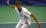 Duke freshman Michael Redlicki forms one of Duke's top doubles tandems with Jason Tahir.
